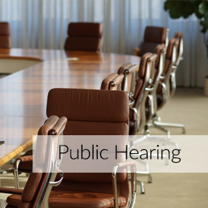 Public Hearings Schedule for Development Program Plans